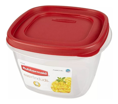 contenedor rubbermaid easy find lids 1700 ml original usa