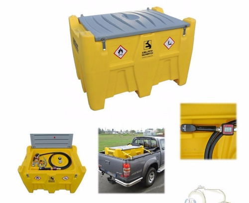 contenedor / tanque polietileno para despachar diesel 440 lt