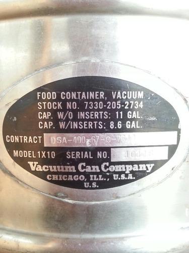contenedor térmico militar.acero inoxidable frio y caliente