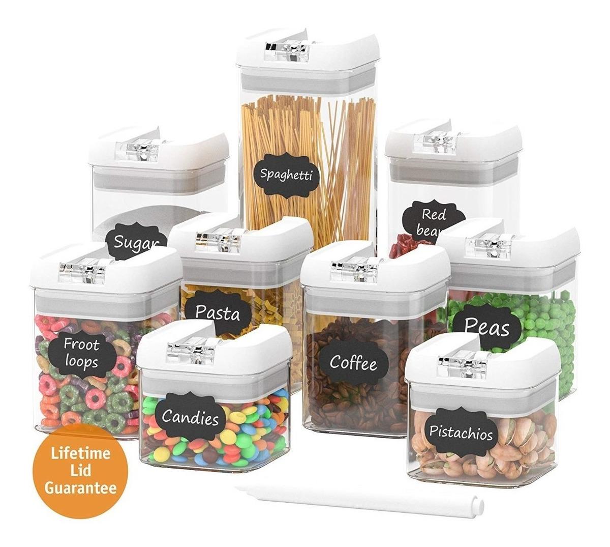 4 litros de pl/ástico transparente cereales recipiente herm/ético ideal para todo tipo de los alimentos