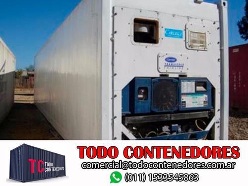 contenedores camaras congelados reefers 40' nacionalizado
