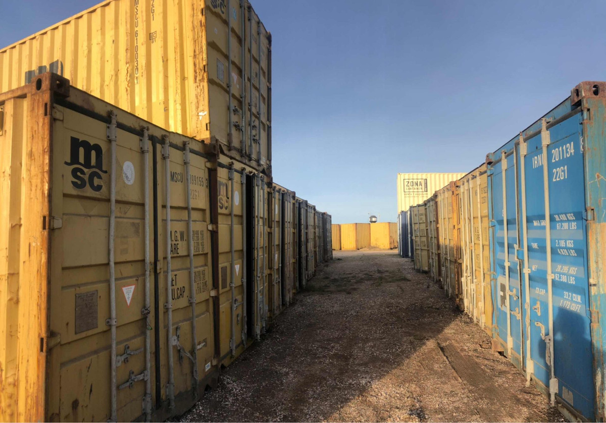 contenedores containers 40 pies (12 mts)
