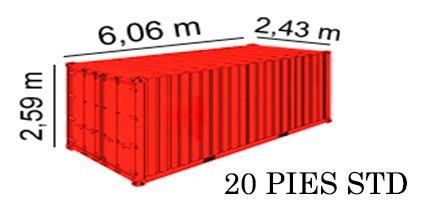 contenedores dry  20 pies usados  nacionalizados