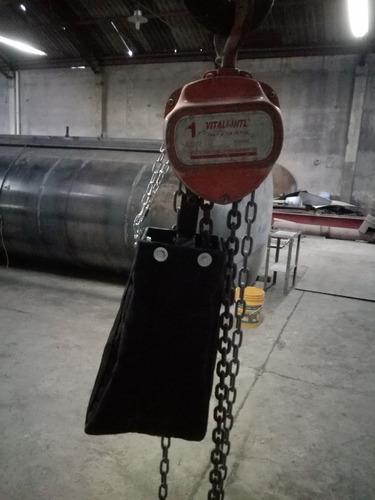 contenedores guarda cadena de lona para polipastos