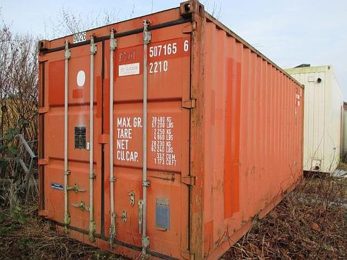 contenedores maritimos containers 20´ azul
