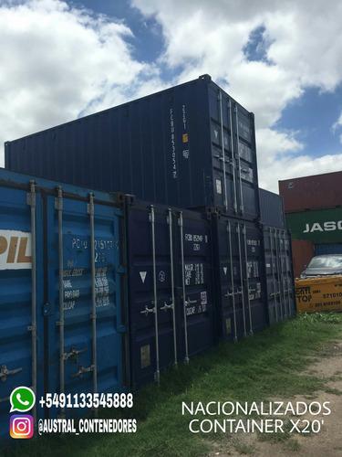 contenedores maritimos containers 20´ la plata nacionalizado