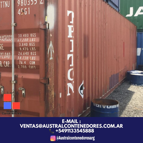 contenedores maritimos containers 20´ seco 25 de mayo bs as