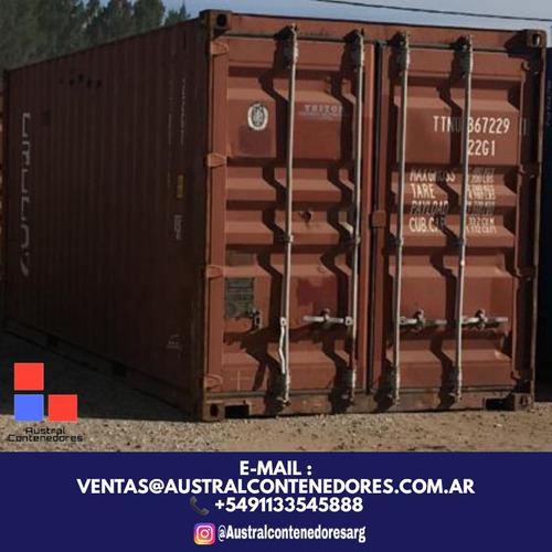 contenedores maritimos containers 20´ seco obrador escobar