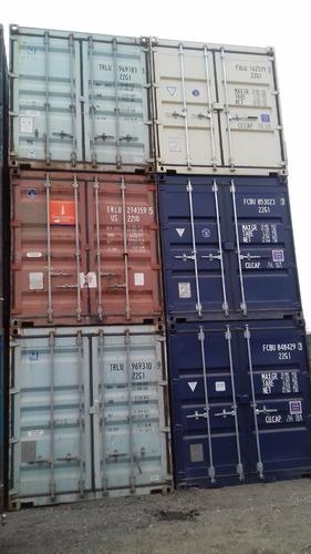 contenedores maritimos containers usado 20 pies azul