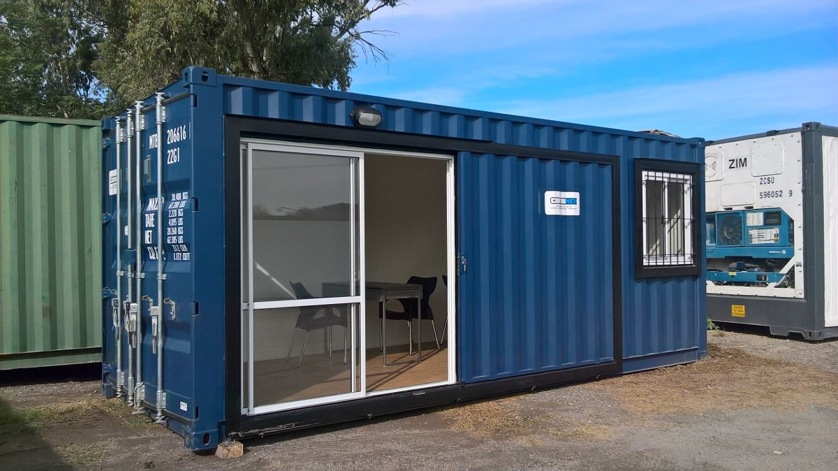 Contenedores maritimos habitables container obrador for Contenedores de oficina