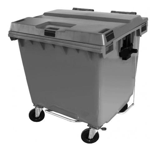 contêiner contentor lixeira plástico 1000 litros c/ pedal