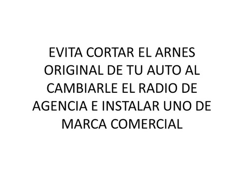 contra arnes radio auto vw,ford,gm vw-11000
