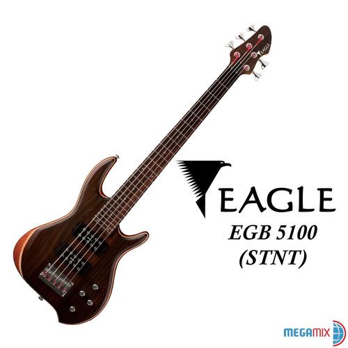 contra baixo elétrico 5 cordas acetinado eagle egb5100 promo