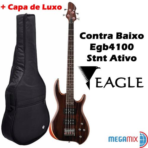 contra baixo elétrico eagle egb4100 stnt + capa de luxo