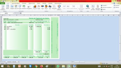 contra-cheque editavel em excel para empresas