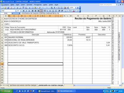 Contra cheque recibo de sal rio envio p internet for Recibo nomina excel gratis