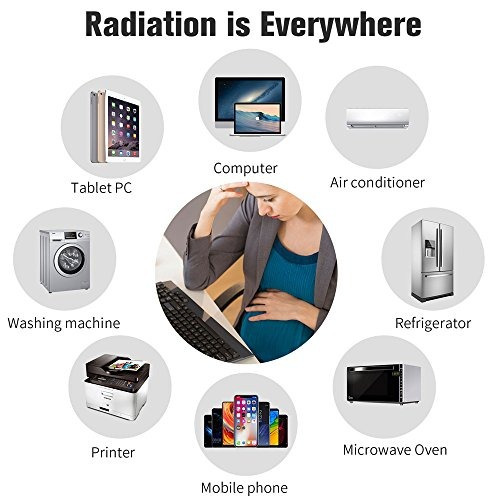 contra la radiación etiqueta escudo de protección fem, bl