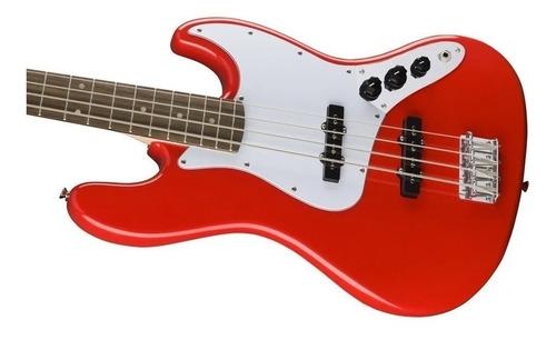 contrabaixo fender squier affinity j bass lr 570 racing red