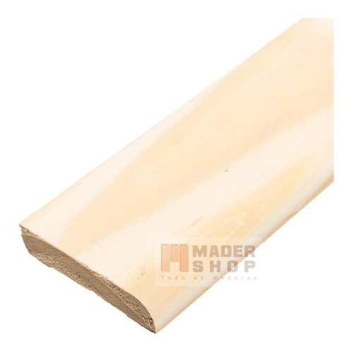 contramarco madera pino clear s/nudos de 8 x 44 x 3050 mm. - mader shop