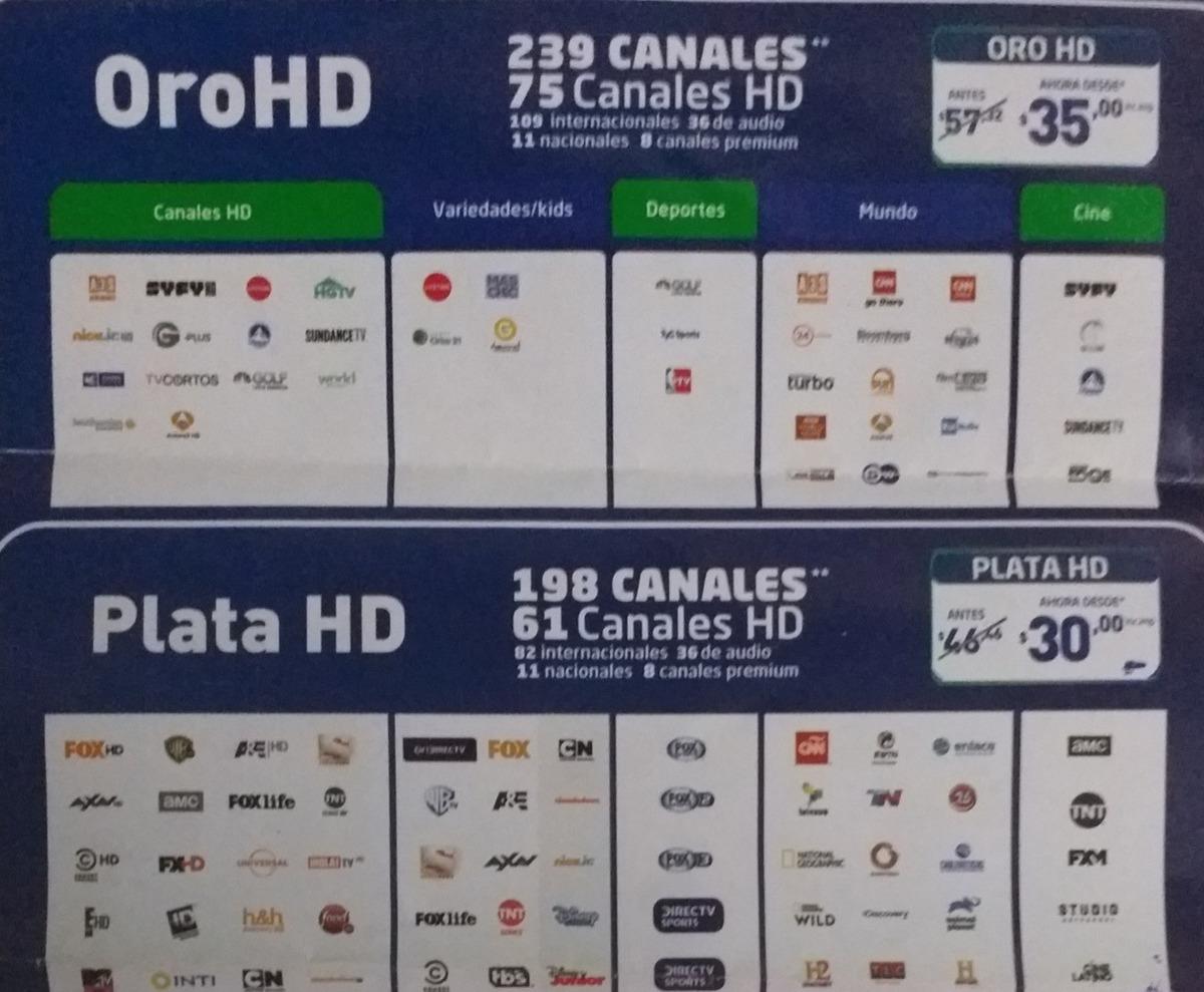 f1aed35f014 Contrata Tu Plan De Directv Con Las Mejores Promociones - U$S 30 en ...