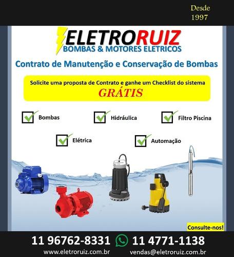 contrato de manutenção e conservação de bombas d'agua.