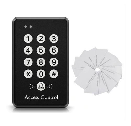 control acceso puerta y 10 tarjetas