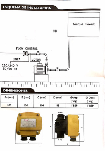 control autom. flowcontrol + bomba 1 hp motorarg.