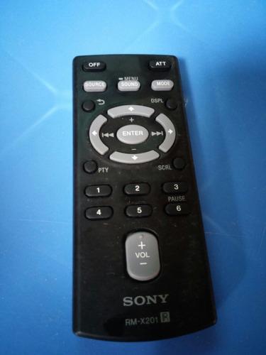 control autoradio sony rm - x201
