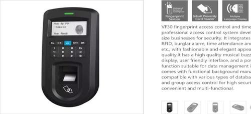 control biométrico de acceso y asistencia (huella digital)