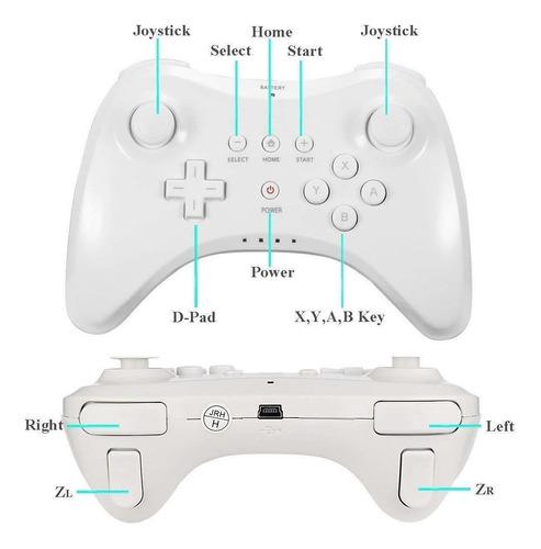 control clasico wii u pro controller inalambrico  white caja
