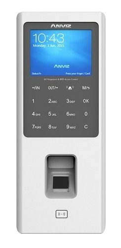control de acceso anviz w2 huella dactilar + tarjeta