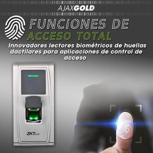 control de acceso personal biometrico zkteco  tarjeta huella