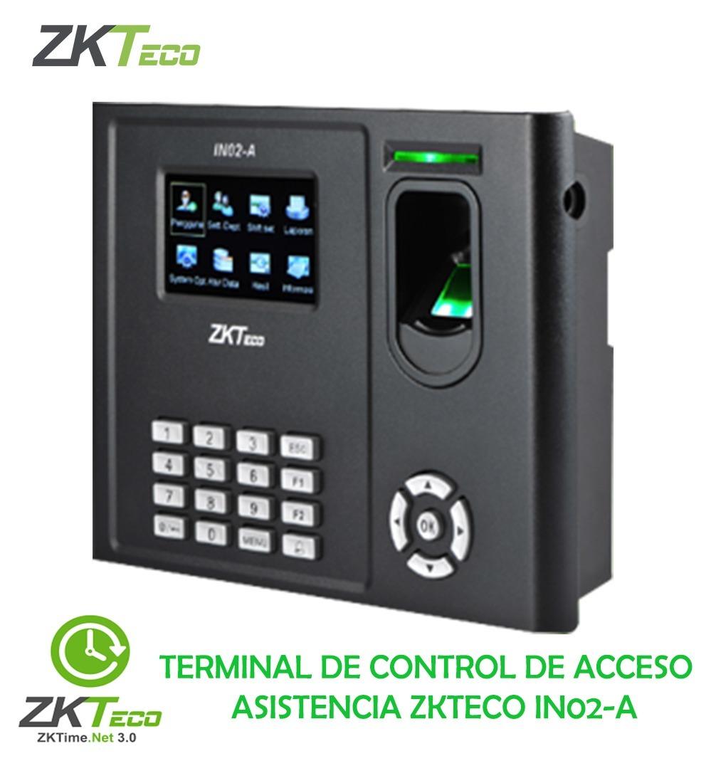 Control De Acceso Y Asistencia Zkteco In02-a Zksoftware
