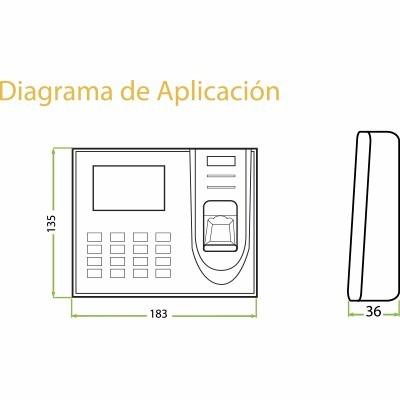 control  de asistencia y tiempo biometrico modelo x150