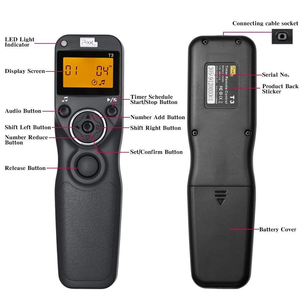 Cable de control remoto de liberación del obturador para Canon Powershot SX50 SX50HS SX60HS