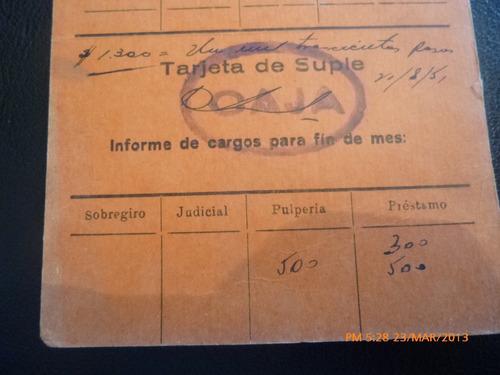control de pago suple salitrera tarapaca antofagasta ag 1958