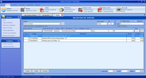 control de ventas para boutique en c#