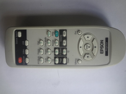 control epson de video beam 15 verdes