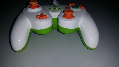 control fight pad yoshi para smash bros wii u