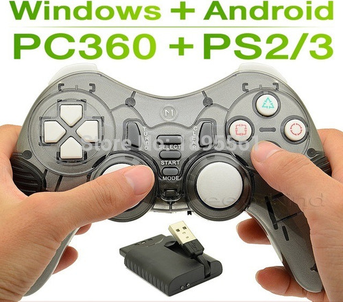 control gamepad palanca usb inalambrica pc ps2 ps3 tv box