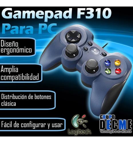 control gamer gamepad usb logitech f310 para pc android tv