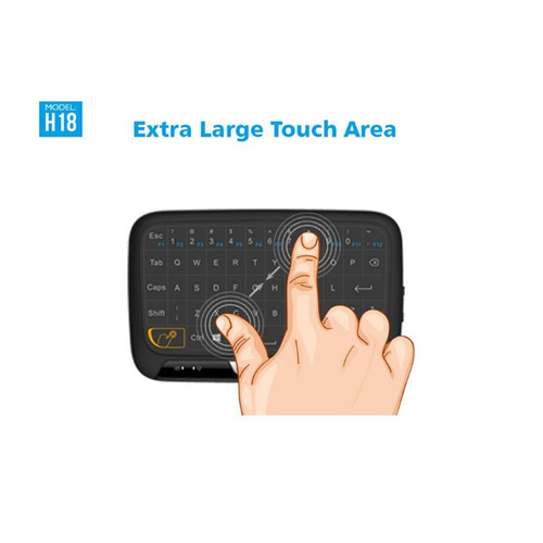 control inalámbrico retro iluminado mini keyboard recargable