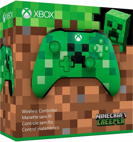 control inalámbrico xbox one minecraft creep nuevo y sellado