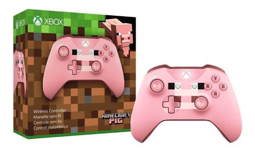 Control Inalambrico Xbox One / Pc Minecraft Pig Jack 3 5mm