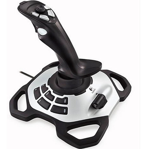 control joystick logitech extreme 3d pro simulador de vuelo