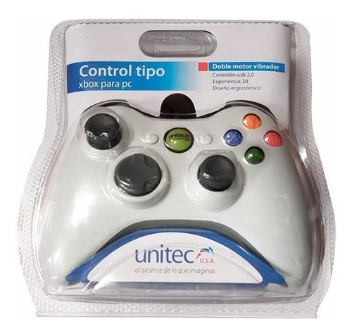 control joystick para pc tipo xbox 360 cable 1.5m game pad