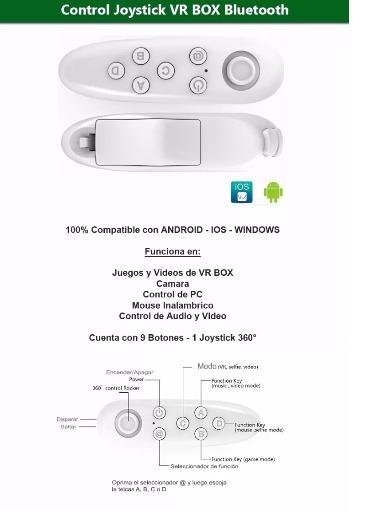 Control Joystick Para Vr Box Android Ios Windows Bluetooth