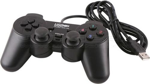 control joystick usb para jugar en la pc 16 botones/rojo/neg