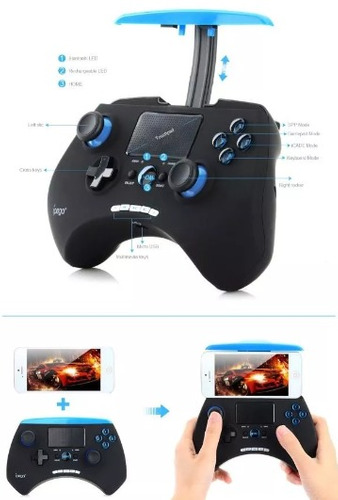 control juegos touchpad ipega pg-9028 android/ios/win