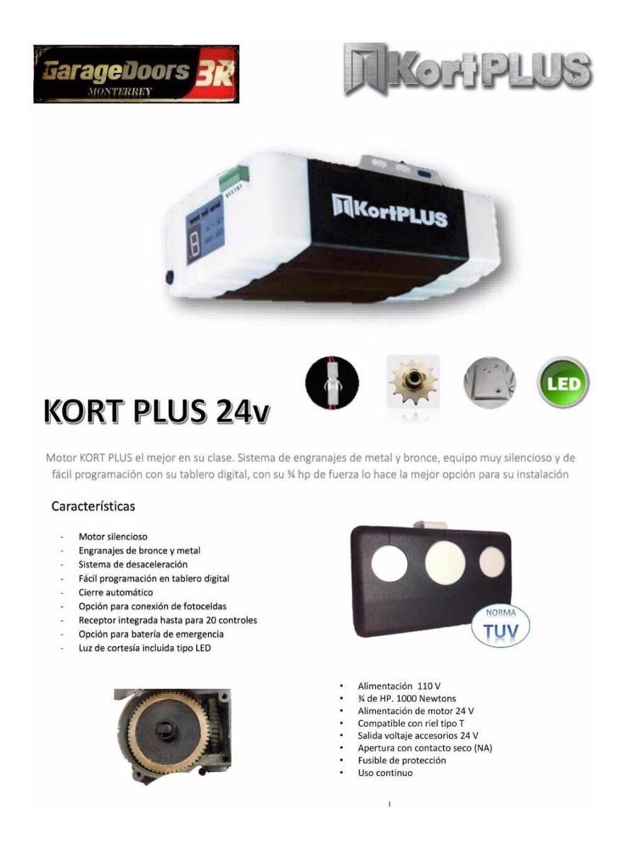 Control Kort Plus Para Porton Electrico 599 00 En Mercado Libre